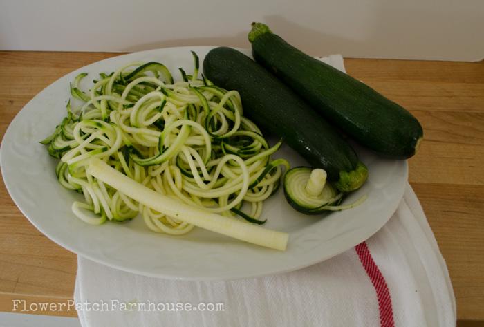 Turn a squash into noodles