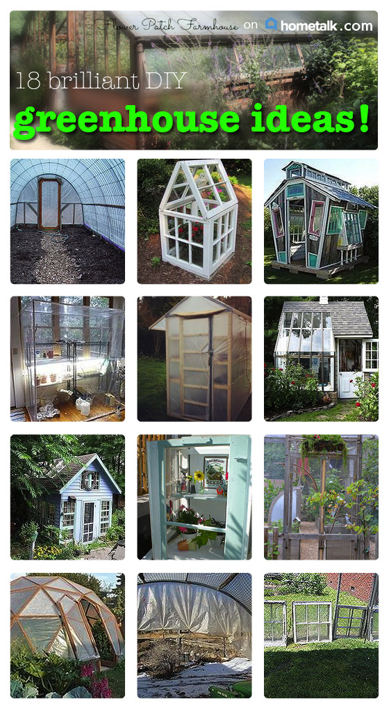 DIY Greenhouses I found on Hometalk - Flower Patch Farmhouse