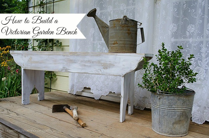 How To Decorate A Farmhouse Garden Bench Flower Patch Farmhouse