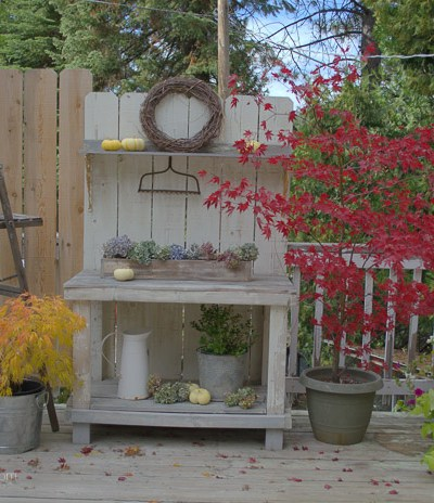 Autumn and my Potting Bench