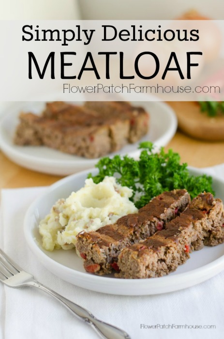 Simply Delicious Meatloaf, a new take on an old favorite. super simple and fast to whip together. Beef recipes for comfort food and game day ease. Your company will love it.