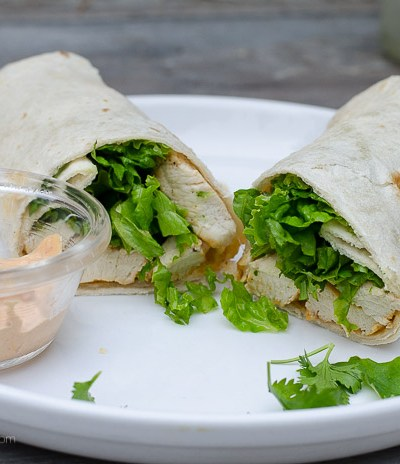 Cilantro Lime Chicken Wrap with Chipotle Mayonnaise