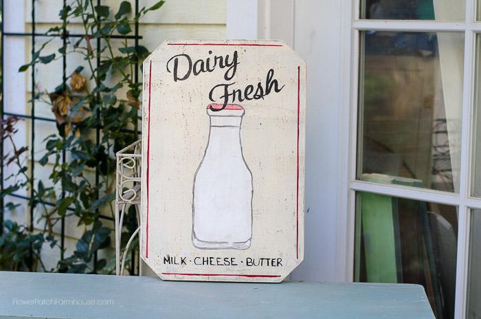 Dairy Fresh Farmhouse sign, FlowerPatchFarmhouse.com