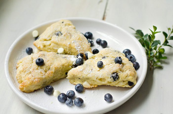 Blueberry White Chocolate Scones, FlowerPatchFarmhouse.com