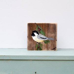 Chickadee Painting, FlowerPatchFarmhouse.com