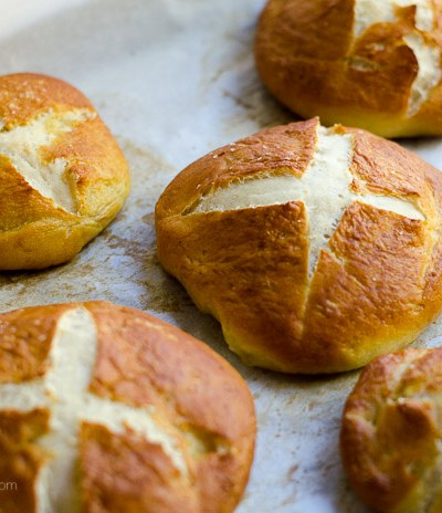 Fabulous Soft and Chewy Pretzel Rolls, FlowerPatchFarmhouse.com