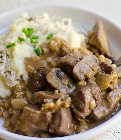 Garlic Mushroom Beef Tips, FlowerPatchFarmhouse.com