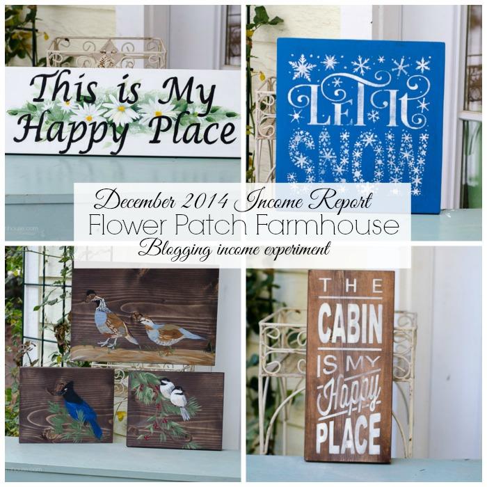 Blogging income upcoming report, FlowerPatchFarmhouse.com
