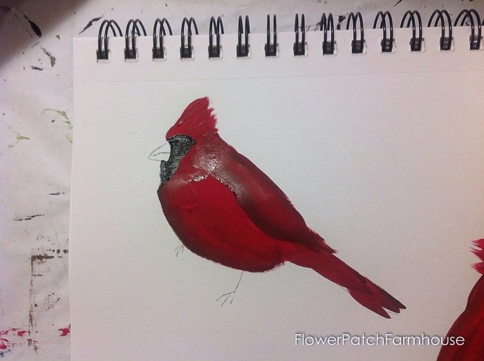 Cardinal painting tutorial, FlowerPatchFarmhouse.com (12 of 15)