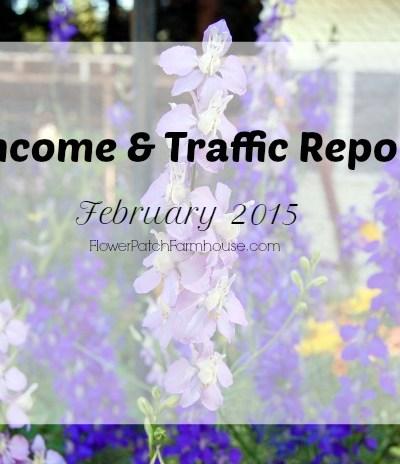 Income and Traffic Report FEb 2015, FlowerPatchFarmhouse.com