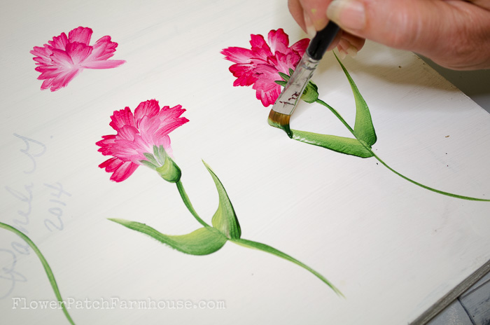 How to Paint a Carnation, FlowerPatchFarmhouse.com (29 of 30)
