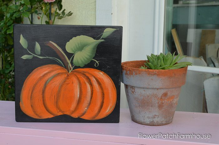 How to Paint a Pumpkin, great for Fall Decor. FlowerPatchFarmhouse.com