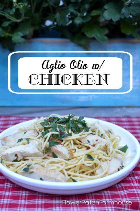 1 Aglio Olio with Foster Farms Simply Fresh chicken, FlowerPatchFarmhouse.com