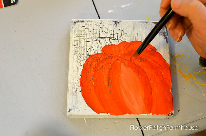 How to Paint an Orange Pumpkin, FlowerPatchFarmhouse.com-0021