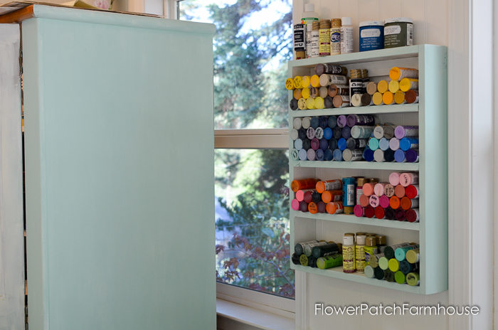 DIY cubby shelf for paint bottles, FlowerPatchFarmhouse.com (2 of 4)