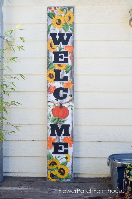 Large Fall Welcome sign, FlowerPatchFarmhouse.com (2 of 7)