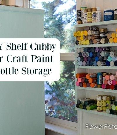 Build a Little Paint Shelf