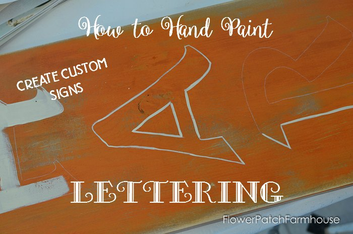 A harvest sign how to paint lettering flower patch farmhouse how to paint lettering so you dont need a stencil fall diy sign spiritdancerdesigns