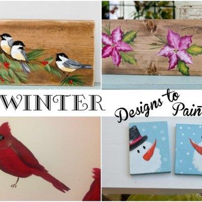 Winter Designs you can Paint, FlowerPatchFarmhouse.com