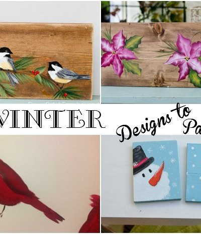 Winter Designs you can Paint, FlowerPatchFarmhouse.com