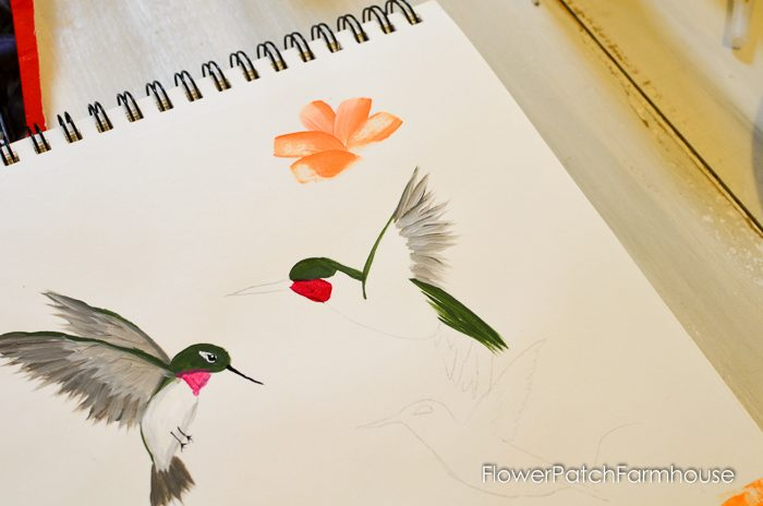 how to paint a hummingbird one stroke at a time, FlowerPatchFarmhouse.com (16 of 33)