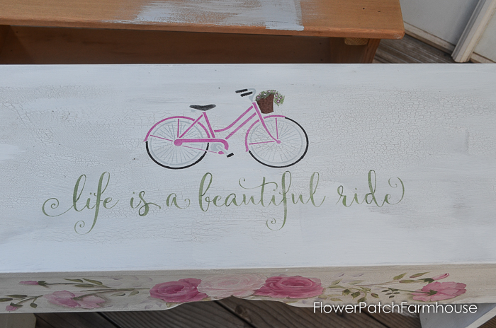 Life is a Beautiful Ride Sweetheart Bench, FlowerPatchFarmhouse.com (1 of 8)