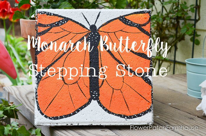 Paint A Monarch Butterfly Stepping Stone. Turn A Plain Cement Paver Into A  Beautiful Garden