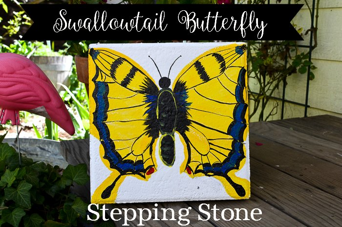 paint a Swallowtail butterfly stepping stone, FlowerPatch