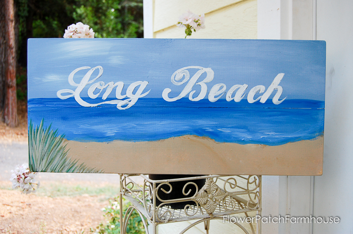 hand painted signs for coastal decor, some great beach art to get that warm vibe, almost as good as a trip to the shore.
