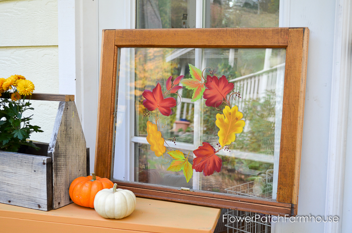 Paint Fall Leaves on Glass. Gorgeous autumn colors arranged in a wreath in this painting tutorial. Step by step instructions and a video attached.