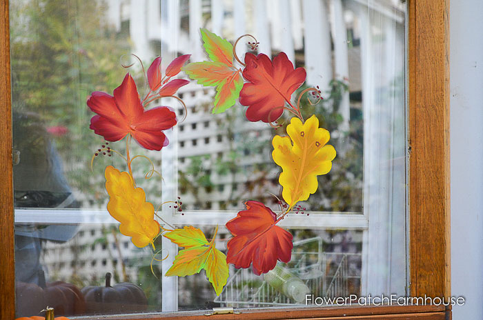 Paint Autumn Leaves on Glass - Flower Patch Farmhouse