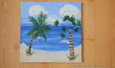 How to Paint a Tropical Beach