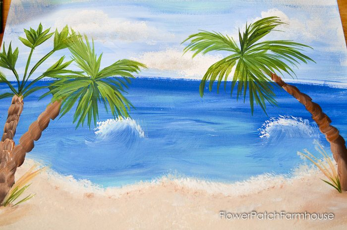How to paint easy palm trees flower patch farmhouse for Painting palm trees