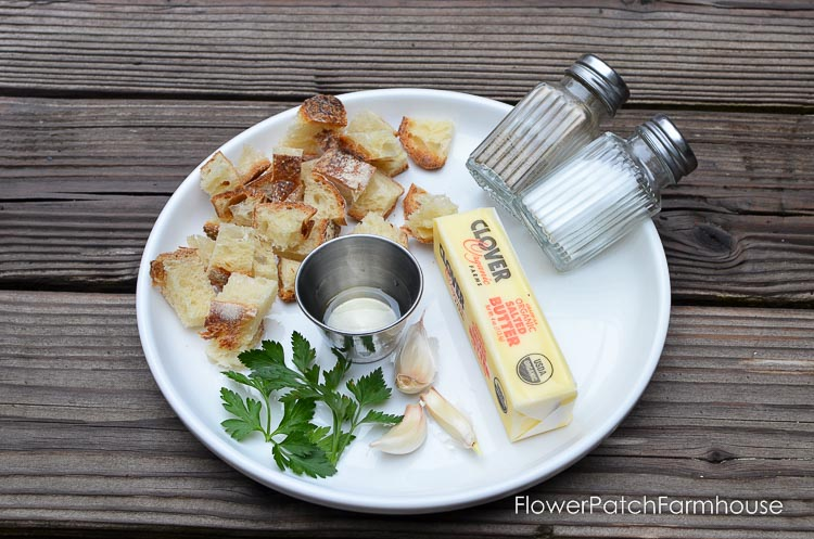 Easy Delicious Croutons, bake your own from leftover french bread or sour dough for an amazing addition to your salads, pasta or eat as a crunch snack. So easy and a great way to use up left over bread.