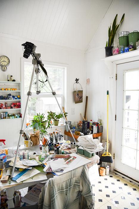 Organizing my Garden cottage studio stage 2, a work in progress!