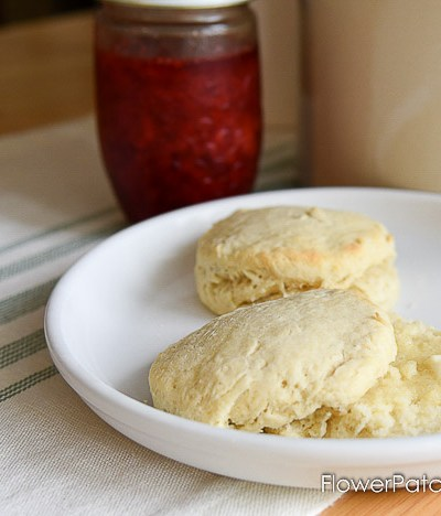 Delicious Buttermilk Biscuits from scratch. Nothing fake here, just pure flavor and flaky goodness.
