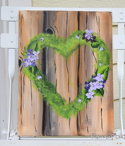Paint a Mossy Heart Wreath