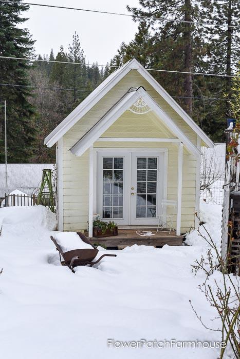Flower Patch Cottage, garden shed, backyard studio, March 19 2018 Garden Journal, Flower Patch Farmhouse