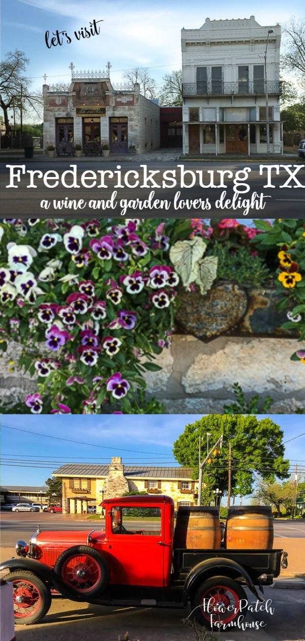 Fredericksburg Texas is an excellent getaway treat for gardeners and wine lovers. There is much more than that to see and do so plan a trip to Fredericksburg Texas and enjoy the quaint loveliness and hospitality. Lots of painting workshops are held here too!