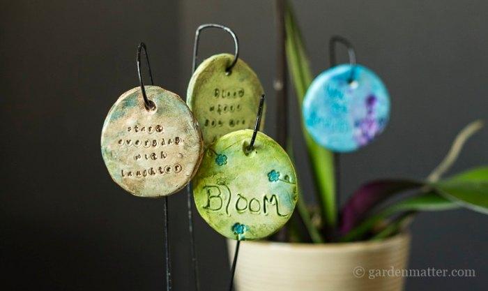 Garden charms, DIY Garden Markers