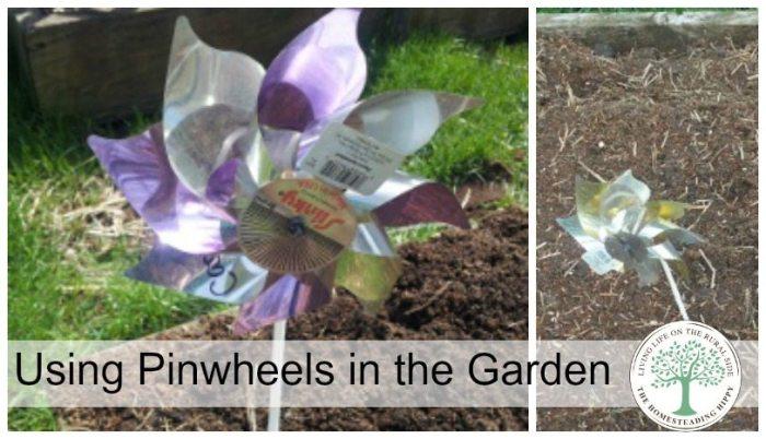 Pinwheels DIY garden markers