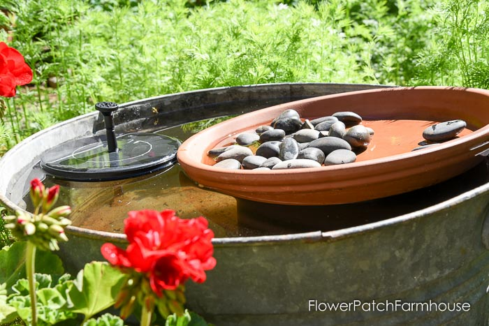 DIY Solar Fountain Hummingbird Bath