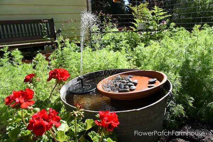 DIY Solar Fountain Hummingbird Bath