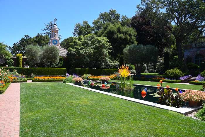 Sunken Garden water feature Filoli gardens