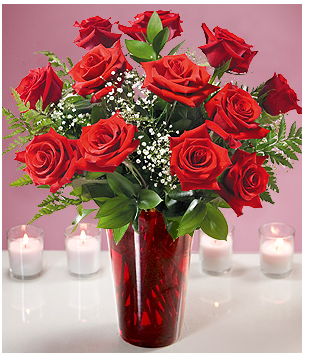 Image Of Valentine Flowers Cheap With Red Roses And Red