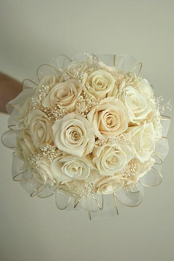 Elegant White Rose Wedding Bouquetjpg 1 Comment