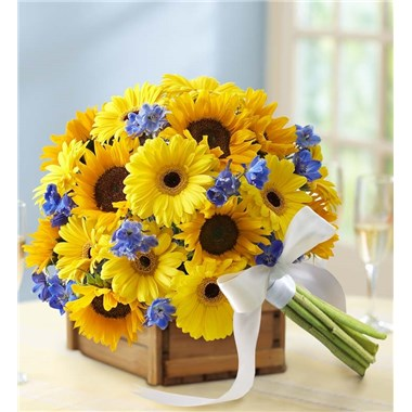 1 800 Flowers Country Wedding Deluxe Sunflower Mixed