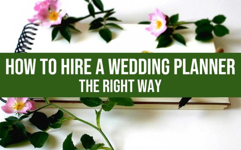hire a wedding planner