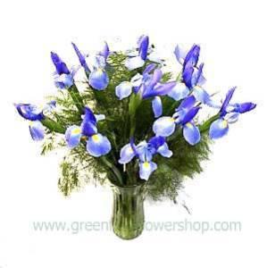 Blue Iris Bouquet