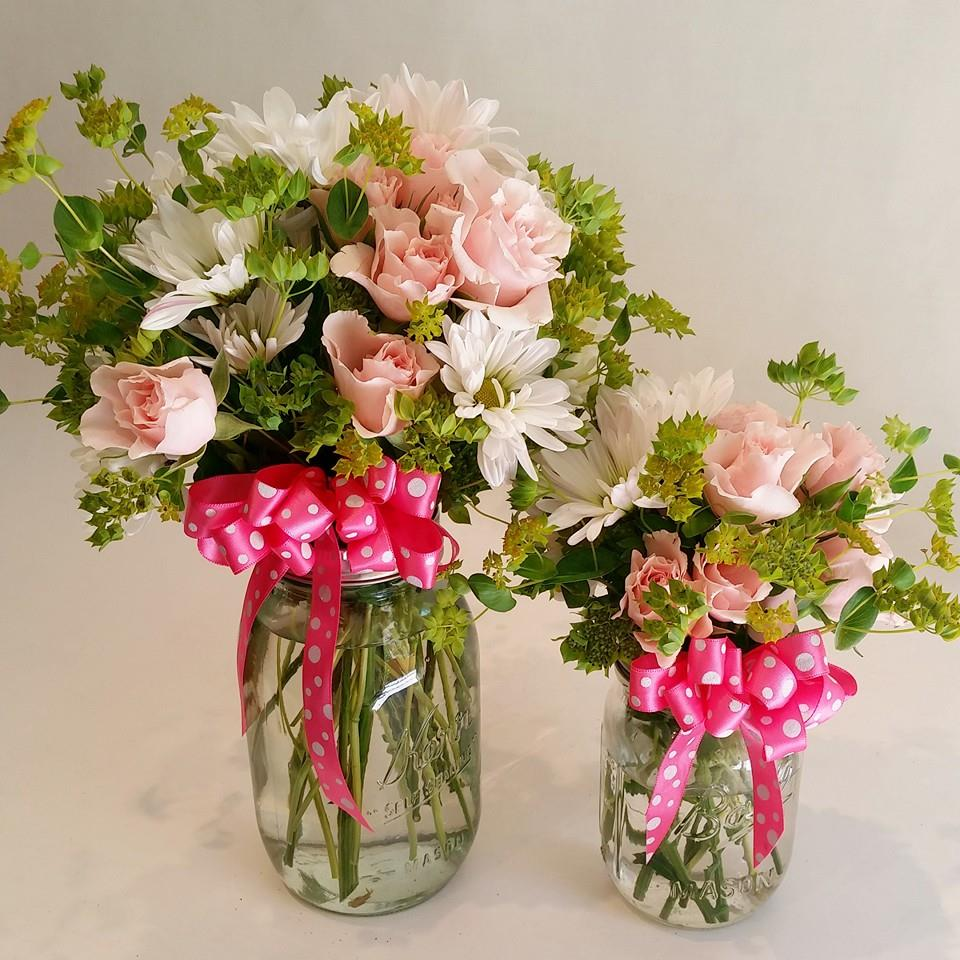 Friday Florist Recap 8 2   8 8  Exquisite Examples Cute mason jar arrangements from Paradise Valley Florist in Scottsdale  AZ